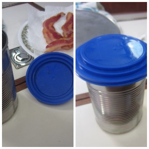 Cat food lid fits several size cans.