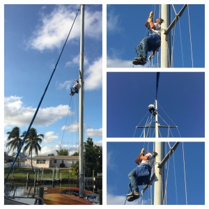 Four trips up the mast
