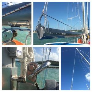 Main sail to shop, new sail coming soon.