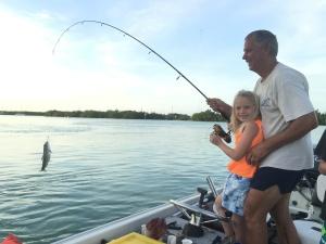 Austin's first fish