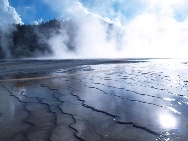 Midway Geyser Basin. Grand Prismatic Spring, Yellowstone National Park