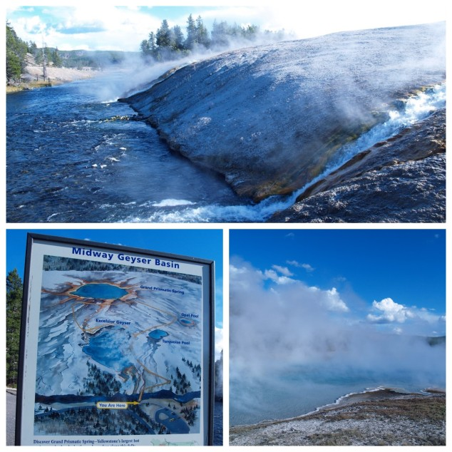Midway Geyser area, Yellowstone National Park